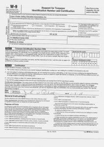 Blank 2020 W9 Form