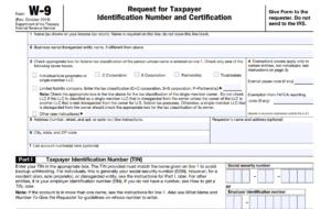 W-9 Form 2021 Online