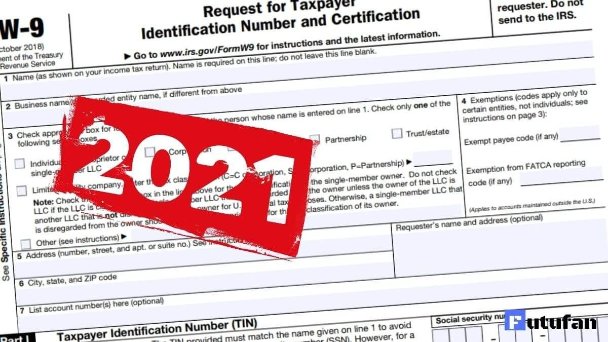 W-9 Form For 2021