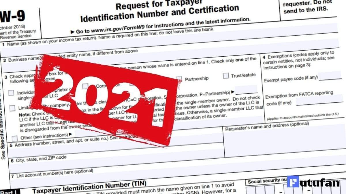 W9 Form 2021 Irs